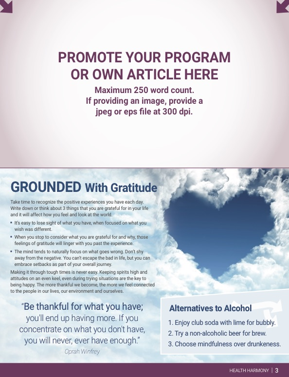 Newsletter Personalization Page 3