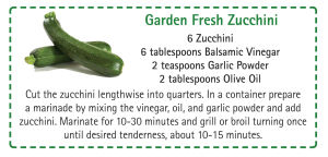 2017 April Garden Fresh Zucchini